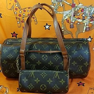 Auth. Louis Vuitton Monogram Papillon & Pochette
